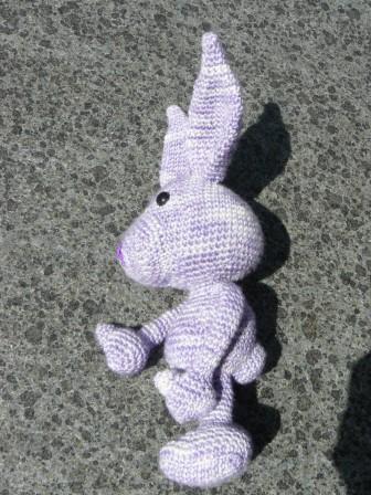 Leuk konijntje in zachte wol