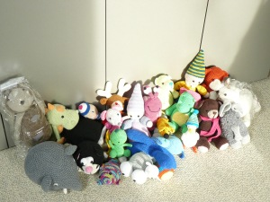 Verzameling knuffels voor Sophia
